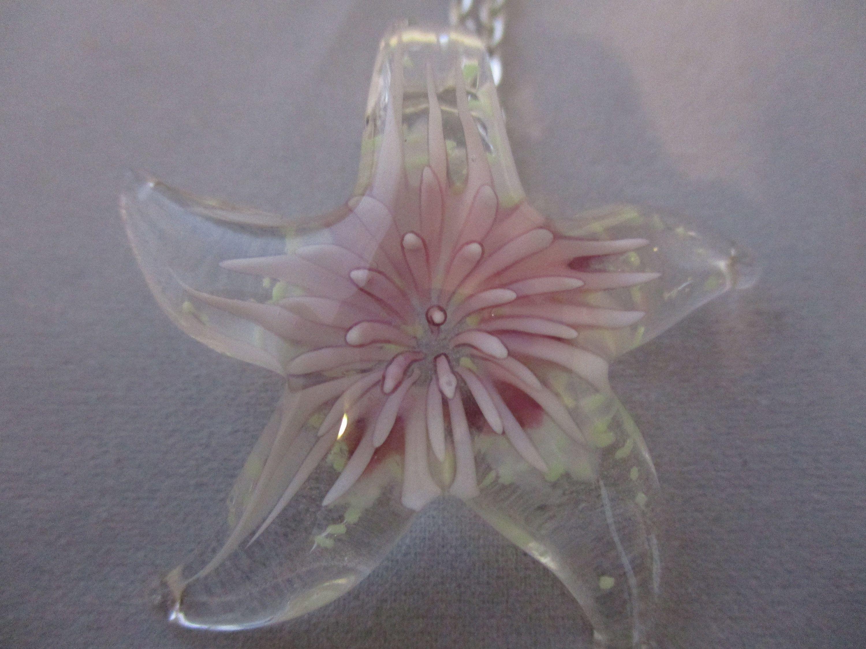 "24/""   Sea Anemone Crystal Necklace"