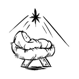 Baby Jesus In A Manger Pattern Art Stamp Zazzle Com In 2021 Christmas Drawing Jesus Coloring Pages Christmas Coloring Pages