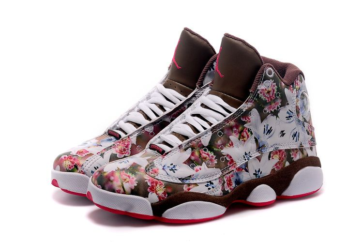 Newest Girls Size Air Jordan 13 GS Floral White Pink Blue ❤ liked on  Polyvore featuring shoes and jordan 13 | My Polyvore Finds | Pinterest | Air  jordan, ...