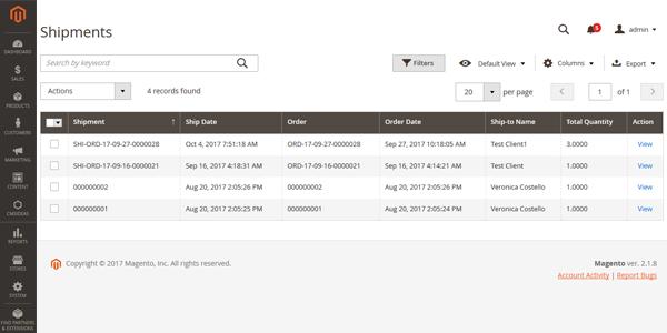 Magento 2 Extensie, Aangepaste order nummering, Tonen bij verzendingen