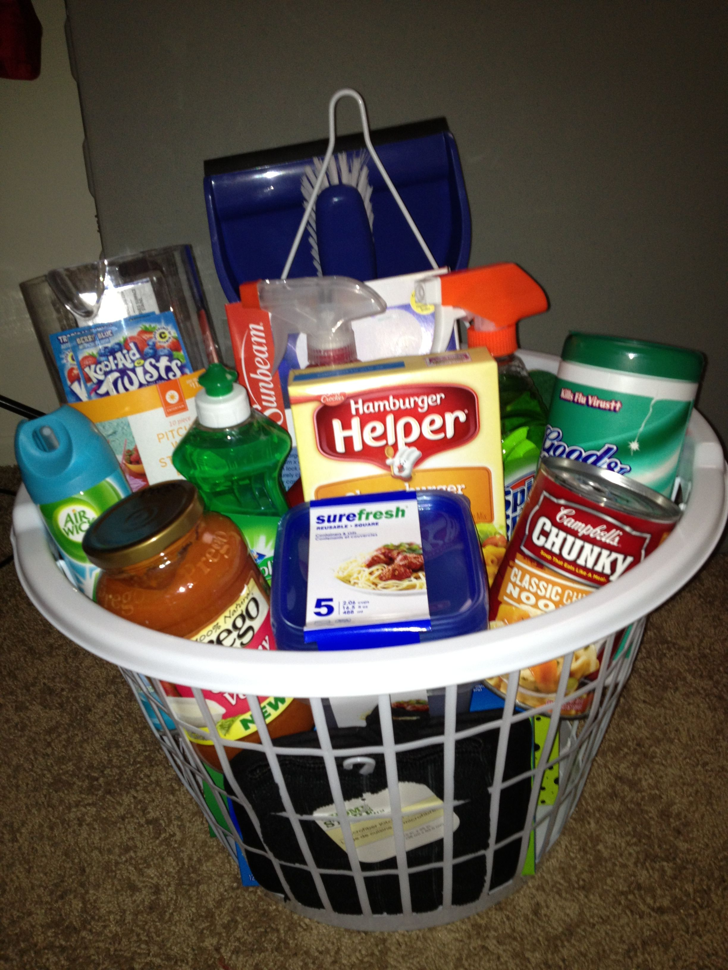 1st Apartment Gift Basket In The Laundry Basket I