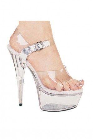9c9579f8b85 Sexy Pole Dancing Shoes - Clear Pole Dancing Style High Heels main ...