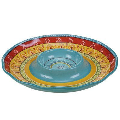 Certified International Valencia Chip  Dip Platter Products