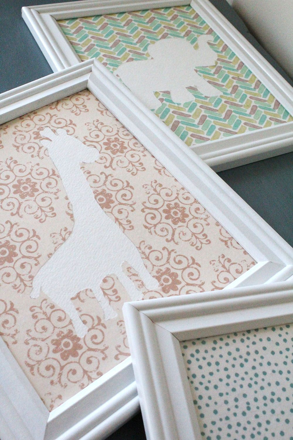 DIY Nursery Wall Art on a Budget #diywalldecor