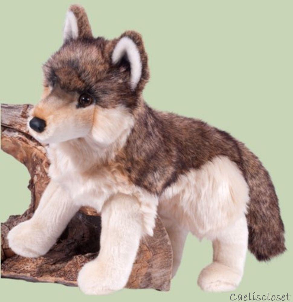 Douglas Smoke Wolf 18 Plush Realistic Large Stuffed Animal New