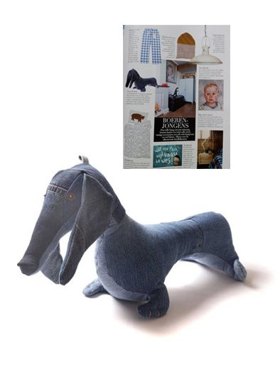 Denim dachshund in Jan Living Magazine