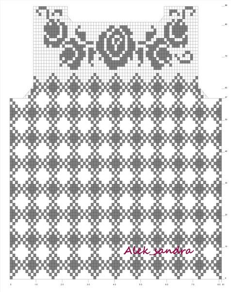 filet crochet pattern chart 2  top