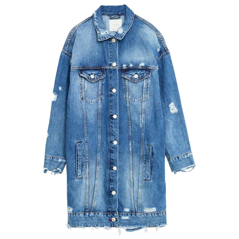 Shop Oversized Denim Jackets Long Denim Jacket Denim Fashion Outerwear Women [ 1000 x 1000 Pixel ]