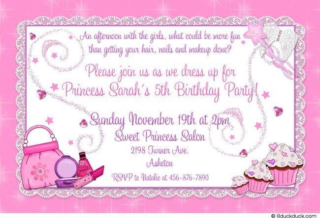 Dress Up 5th Birthday Invitation