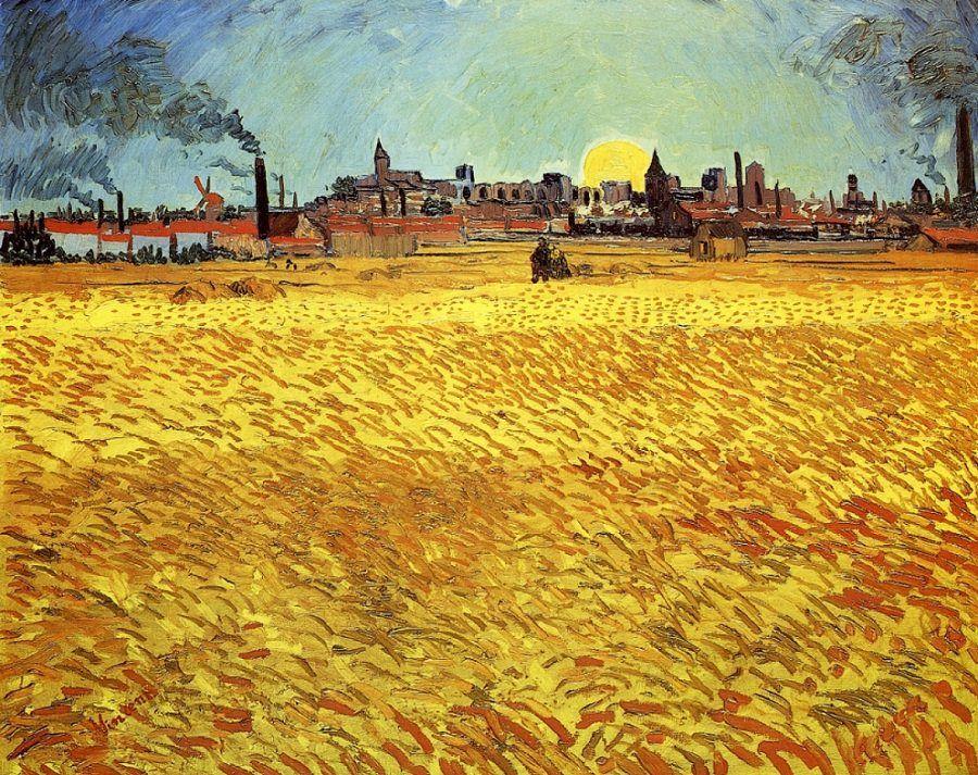 van gogh wheatfield with crows - Pesquisa Google