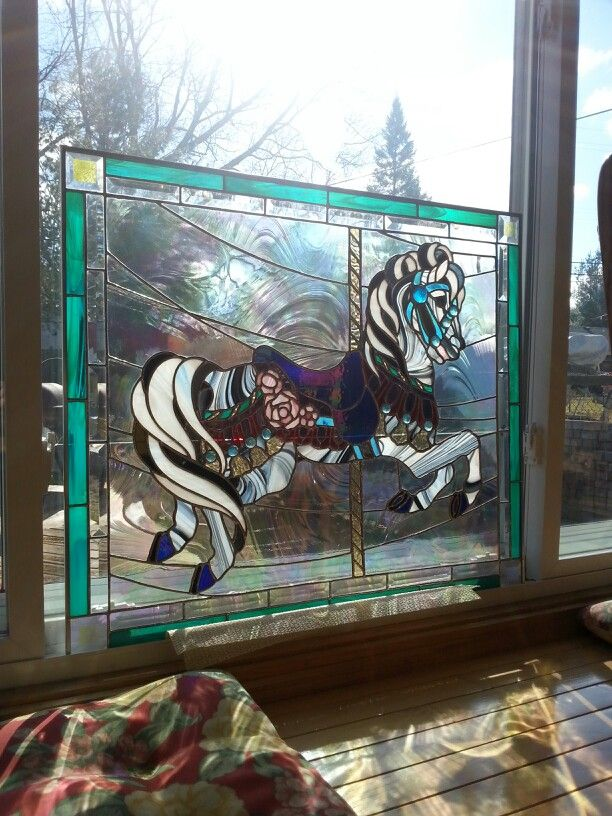 Stained glass carousel horse I made stained glass, some