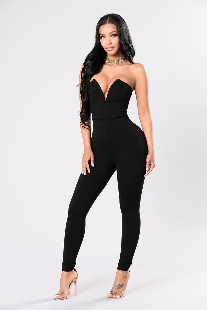 db35a3cbaba Hold Me With Your Eyes Jumpsuit - Black