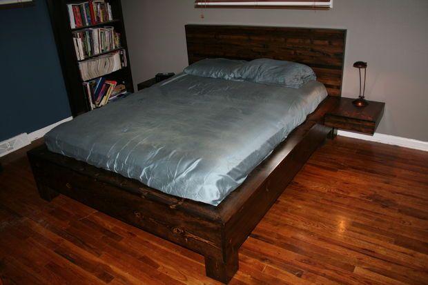 Diy Platform Bed With Floating Nightstands Diy Platform Bed Diy