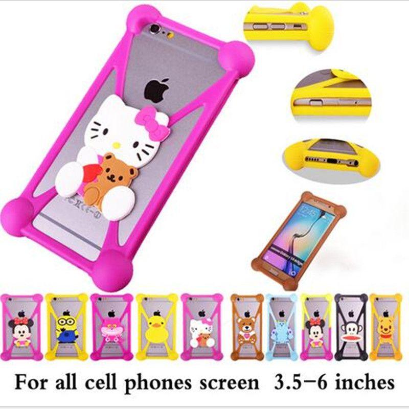 motorola e3 case. New Universal Soft Silicone 3D Cute Cartoon Stitch Minnie Kitty Phone Case For Motorola Moto G3 E3