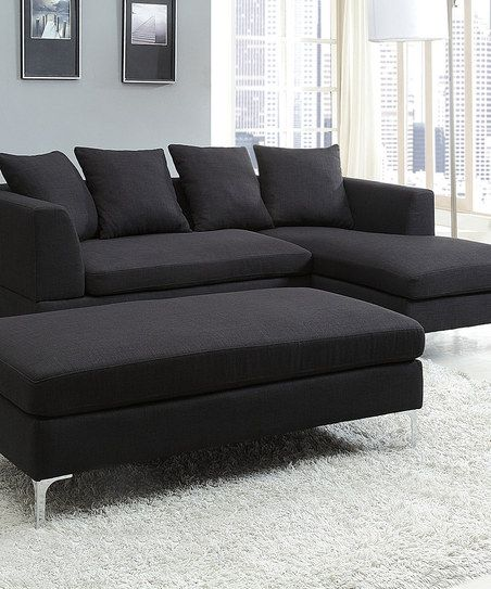 Charcoal Levan Sectional Sofa Black Sofas Fabric Living Rooms