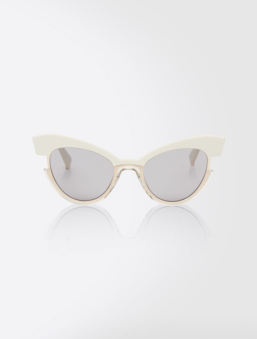 498a2a72af26 Max Mara INGRID beige: Cat-eye sunglasses. // As seen on Emma Roberts in  her Instagram post - January 9, 2018