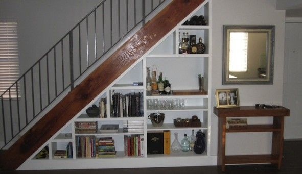 Building An Under The Stairs Bookcase Shelves Under Stairs