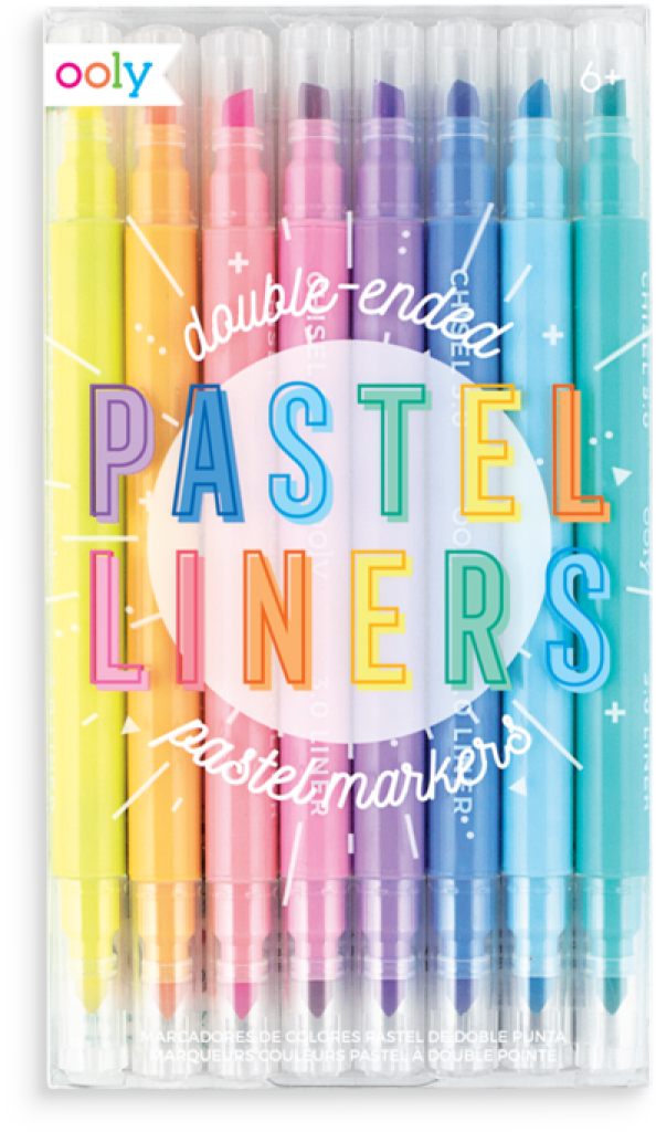 Ooly Pastel Liners Double Ended Markers Set