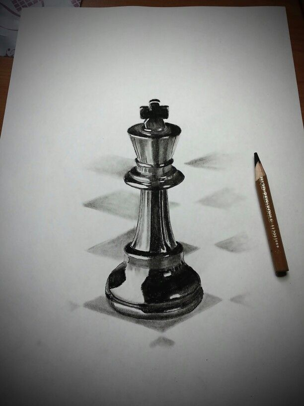 King Chess Piece In Charcoal Pencil Chess Piece Tattoo Chess Tattoo Pieces Tattoo