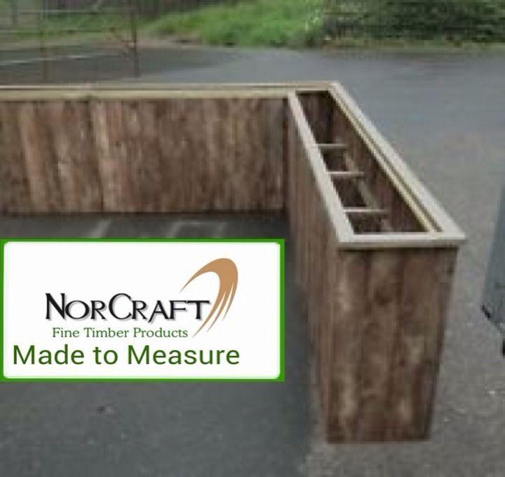 Large 1 Metre Wooden Garden Planter Box Trough Herb: Wooden Garden Flower Herb Planter Trough Box Plant Pot