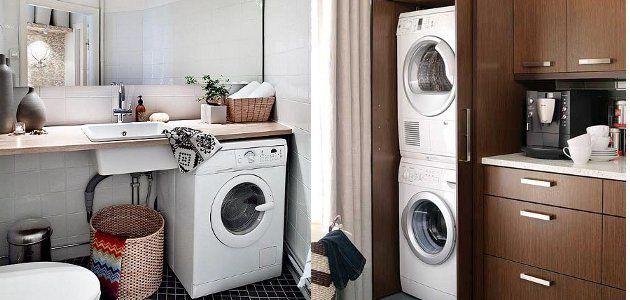 Donde colocar tu lavadora para espacios pequeños y ocultos. evitas ...