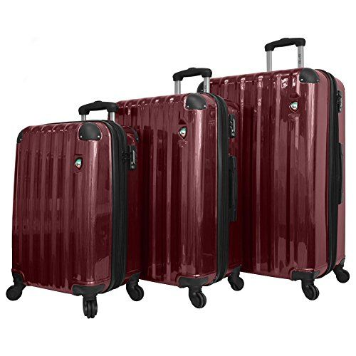 Mia Toro Spazzolato Lucido Hardside Spinner Luggage 3 Piece Set, Burgundy, One Size  http://www.alltravelbag.com/mia-toro-spazzolato-lucido-hardside-spinner-luggage-3-piece-set-burgundy-one-size/
