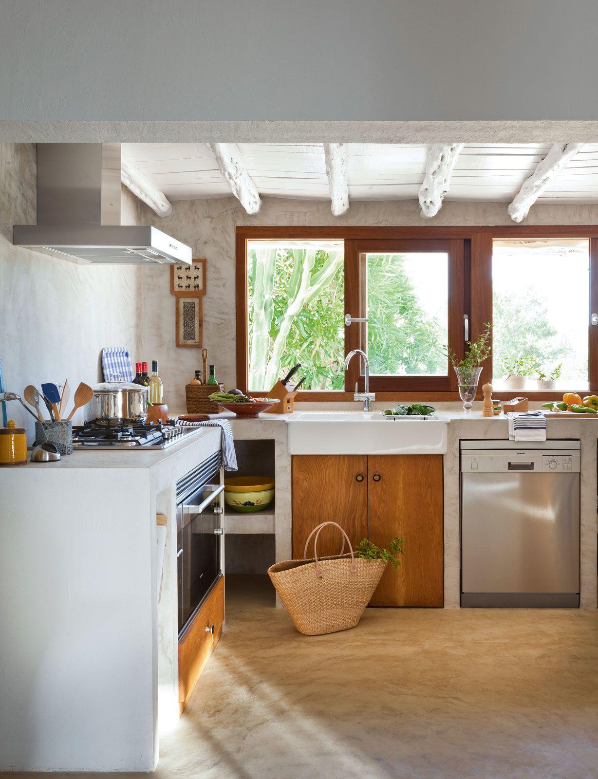 Badezimmer aus küchenideen lw cocina de estilo campestre con muebles de obra a medida y