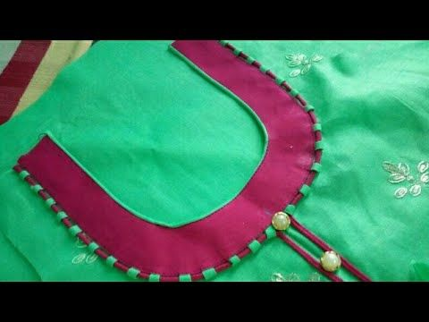 12b9cd37a1d0f9 top front round neck design cutting and stitching in Hindi - YouTube ...
