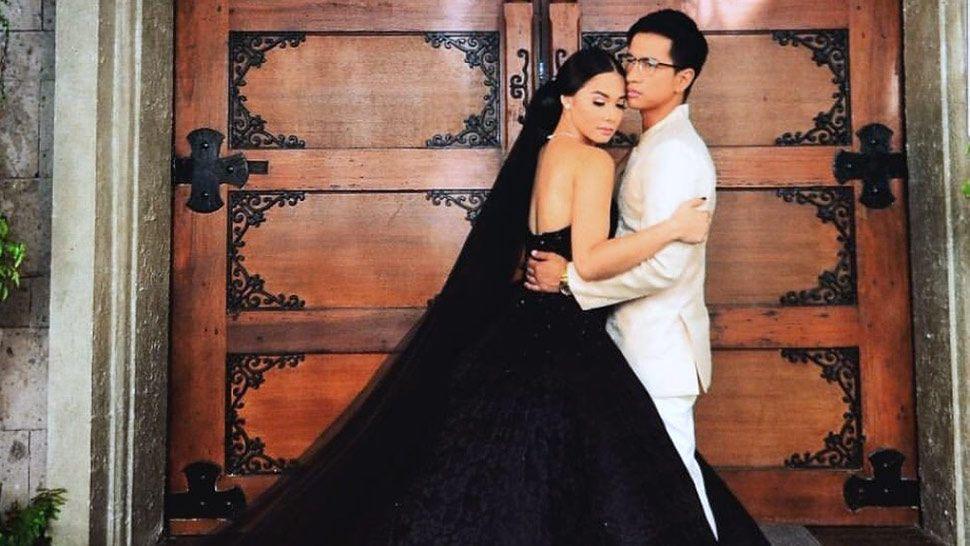 Maja Salvador Stuns In A Black Wedding Dress In Black Wedding