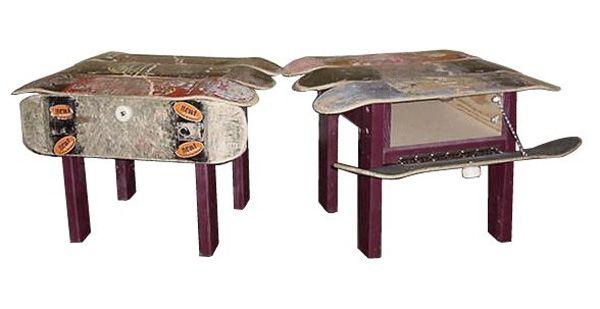 furniture inspired by used skateboard decks skateboarding magazine - Skateboard Bank Beine