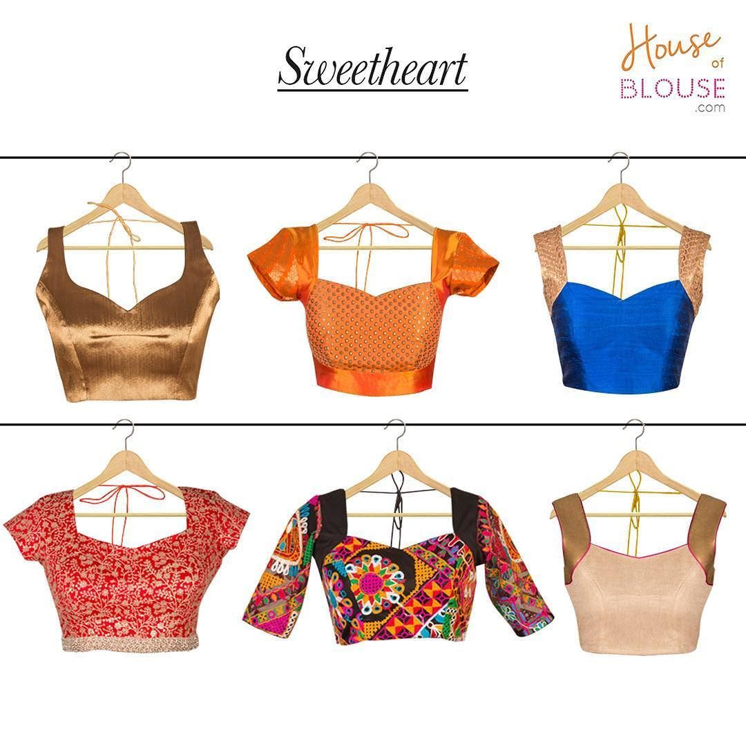 Our customer creations truly delight us! Check out these sweetheart neck blouses created by various sweethearts :) Go ahead and give our 'STYLE CREATOR' a whirl - combine in ways you can only imagine :) Get inspired and create you own at http://ift.tt/2hKpU7T #customercreation #sweetheart #neckstyle #pretty #creations #chic #blouse #customise #customdesign #love #houseofblousedotcom