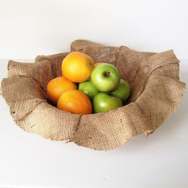 Such a cool idea--perfect for Thanksgiving! Burlap Bowl Tutorial by Maker Mama @Amy Johnson