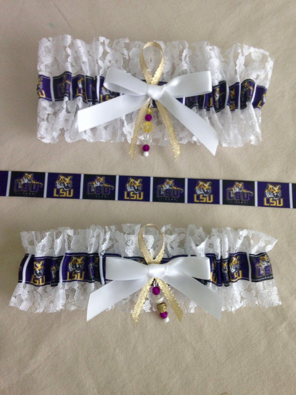 "LSU ""Tigers Garters by SportzNutty on Etsy"