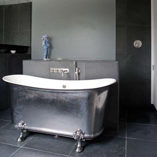 pewter claw foot bathtub