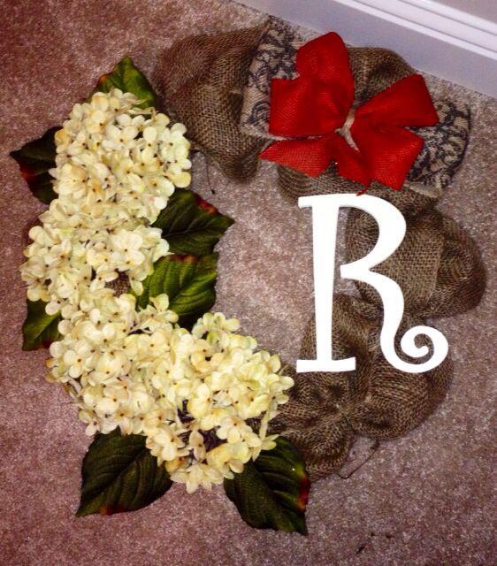 Hydrangea and burlap