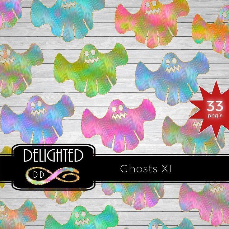 BUY10GET50%OFF - Ghost Clipart Set, Halloween Clip Art, Planner Clip Art, ClipArt commercial use #clipartfreebies
