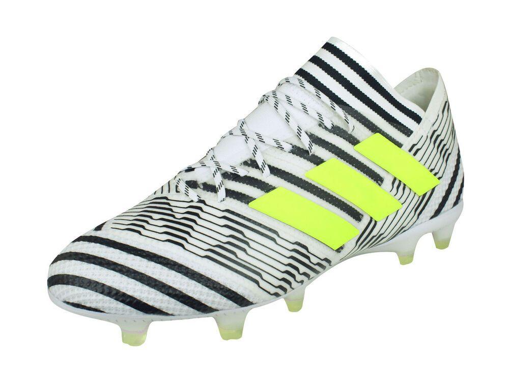 703de50c33d eBay  Sponsored adidas Nemeziz 17.1 FG Mens Firm Ground Soccer Cleats White  Black-Stripes