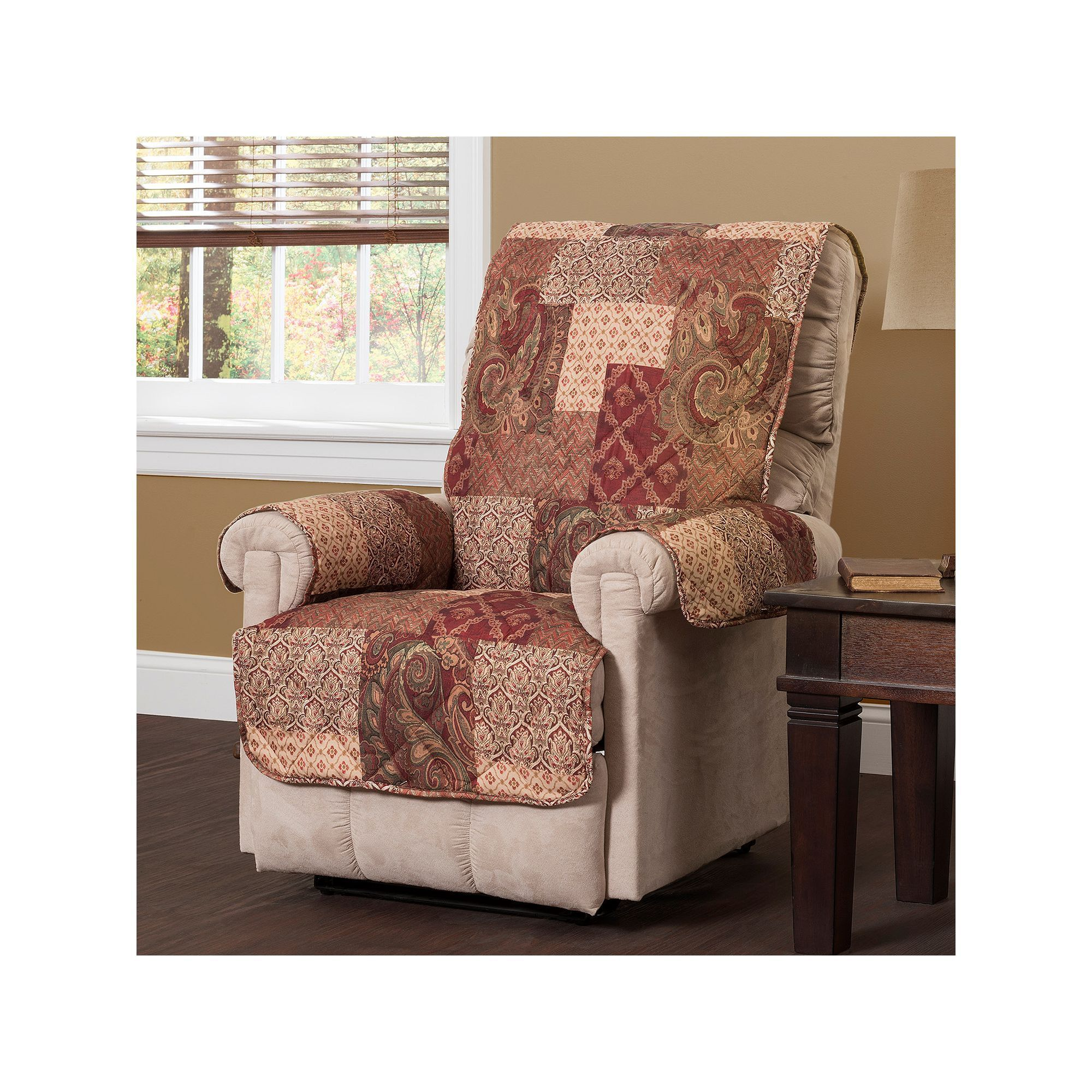 Paisley Patch Recliner Slipcover Multicolor