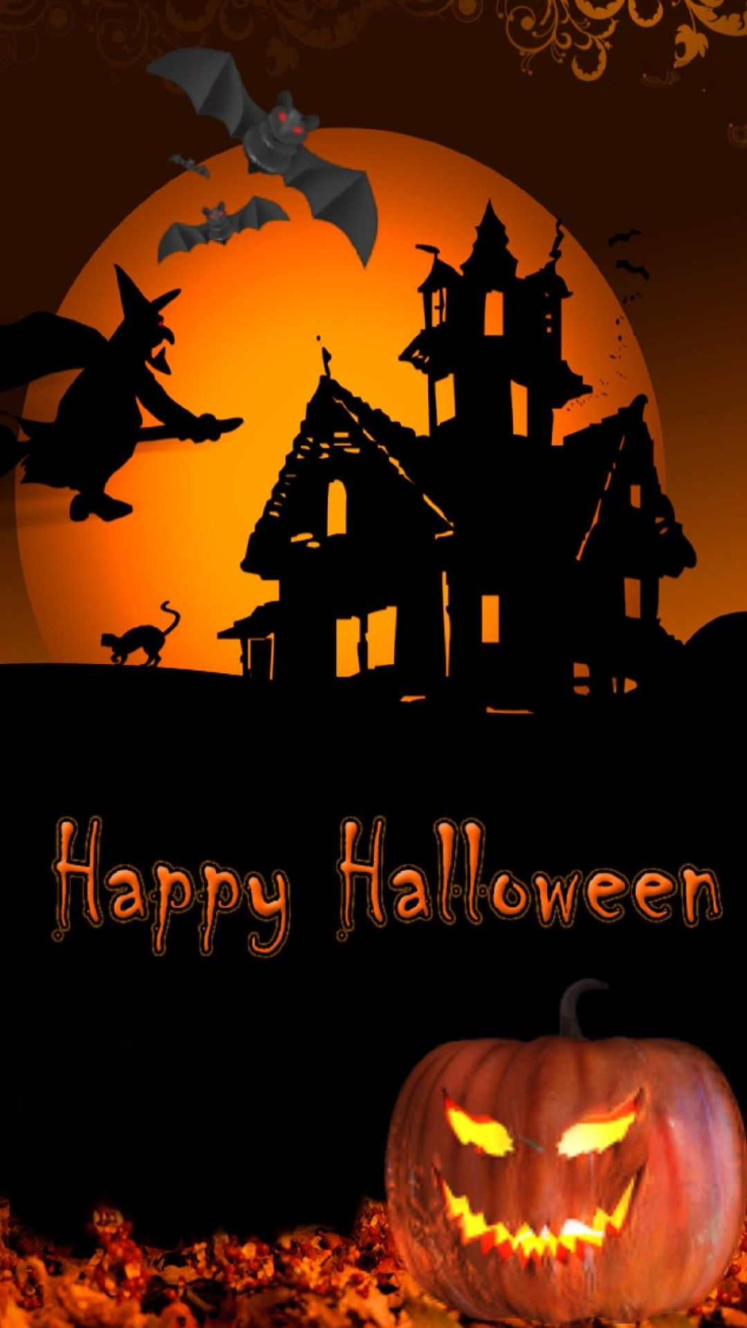Halloween 2014 wallpaper pentru iPhone 6 si iPhone 6