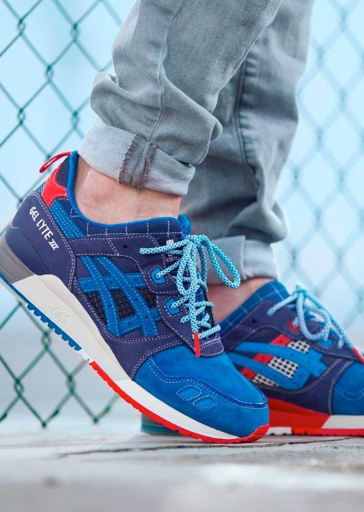Mita Sneakers x Asics Gel Lyte III 25th Anniversary Navy/Blue On Sale