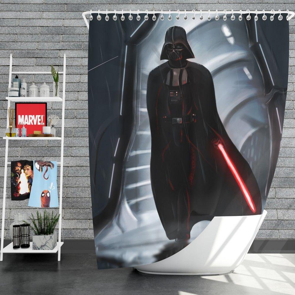 Star Wars Movie Darth Vader Lightsaber Shower Curtain Darth