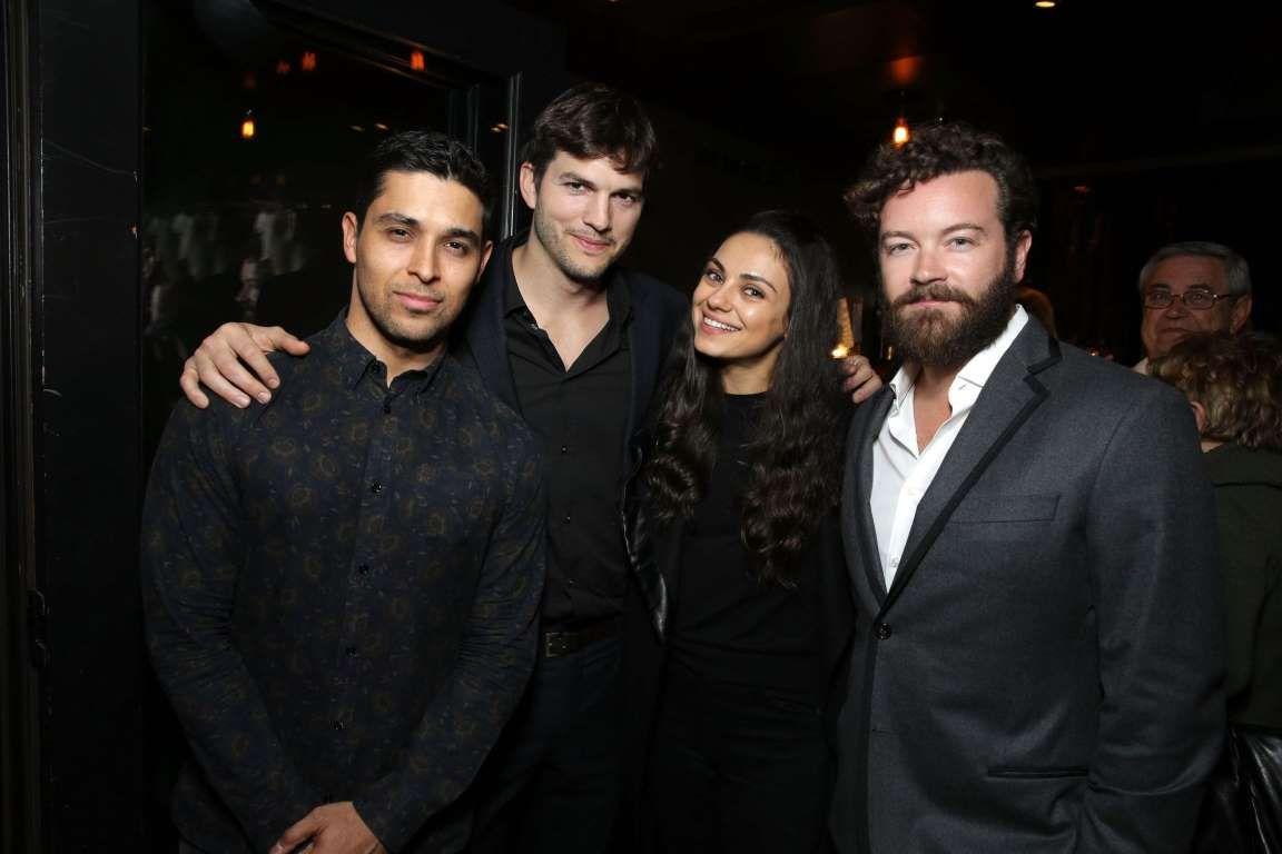 Wilmer Valderrama, Ashton Kutcher, Mila Kunis and Danny Masterson are seen at a special screening of... - Eric Charbonneau/AP
