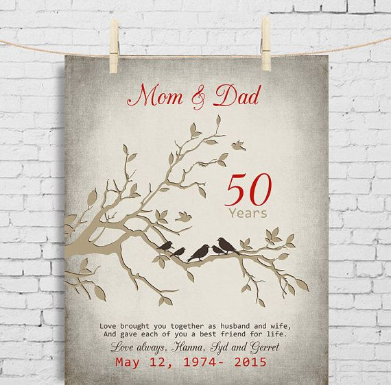Childrens Wedding Gifts: 50th Wedding Anniversary Gift For Parents Parents- In Law