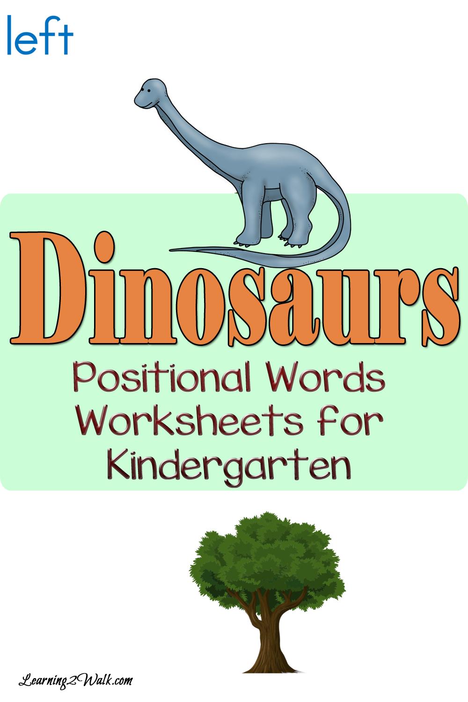 Dinosaurs Positional Words Worksheets for Kindergarten | Worksheets ...