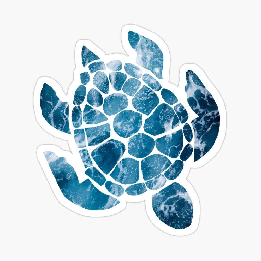 Ocean Turtle Sticker By Piggy10 Ocean Turtle Purple Wallpaper Phone Art Prints [ 1000 x 1000 Pixel ]