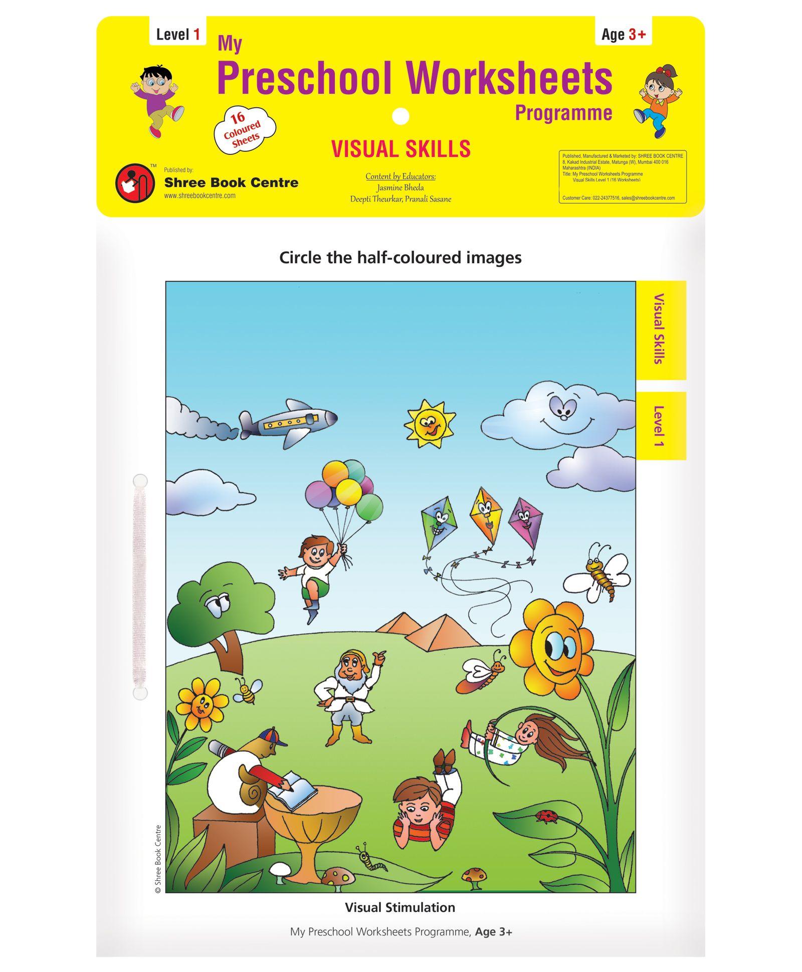 My Preschool Worksheets Visual Skills Level 1 English