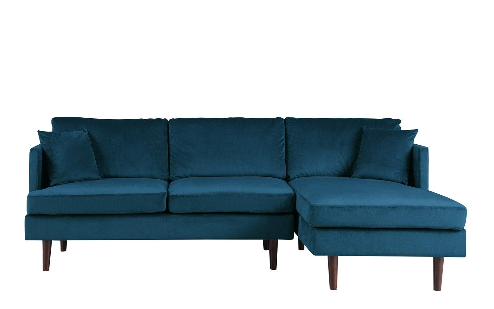 Jovanni Modern Brush Microfiber Sectional Sofa ...