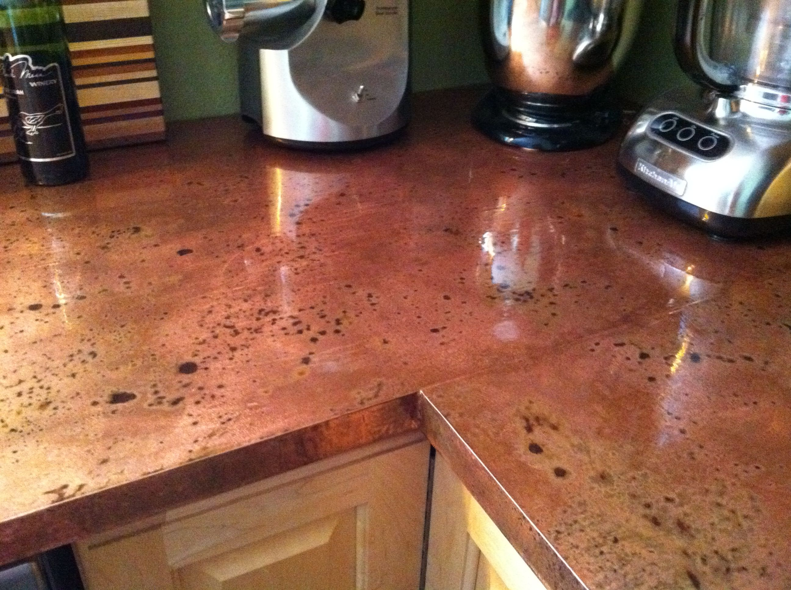 Copper Laminate Countertops Copper Countertops This Is Simply Copper Sheeting Contact