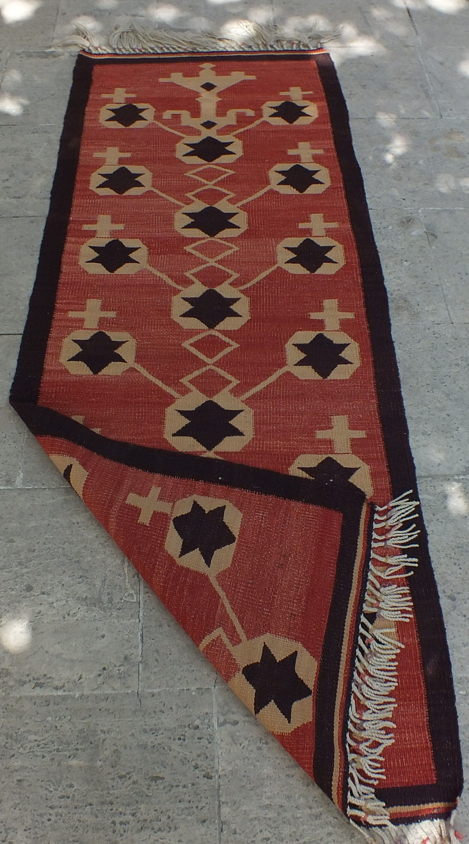 Kilim Runner Rug Vintage Turkish