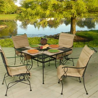 Outdoor Patio Furniture | Winmore Wrought Iron Dining Sets   American Sale